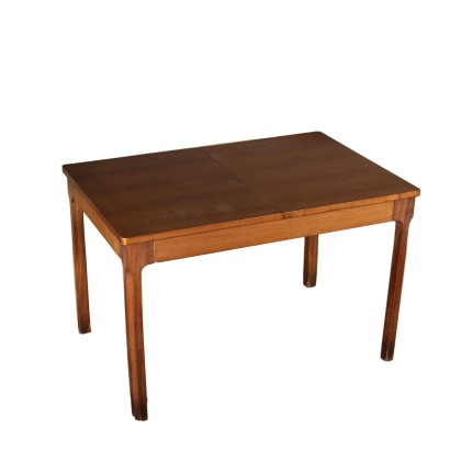 Table Allongeable Placage de Noyer Italie Années 70