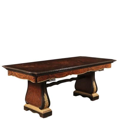Inlaid Revival Table with Gilding Italy 20th Century