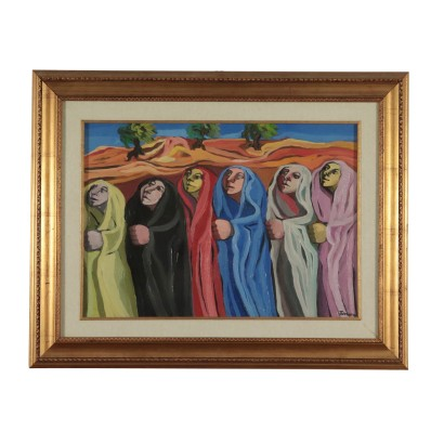 Figures by Saverio Terruso Procession Painting 1982