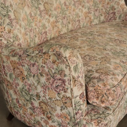 Two-seater Fabric Sofa Vintage Italy 1950s