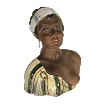 Bust Sculpture of a Young Woman Italy 1930s-1940s