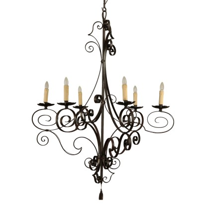 Chandelier Iron Italy 20th Century