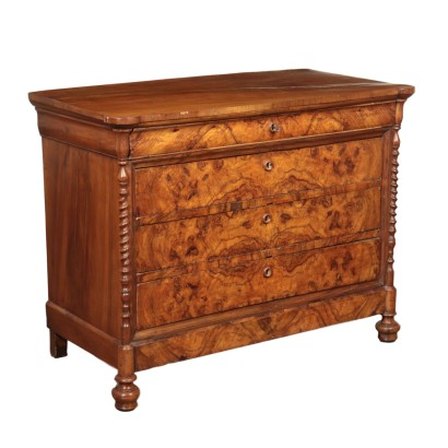 Chest of Drawers Walnut Italy Half 1800s