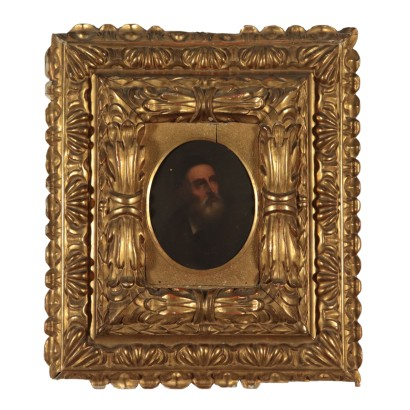Portrait of Tiziano Gilded Frame 18th Century