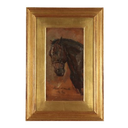 Sketch by Lazzaro Pasini Study of a Horse Drawing 20th Century