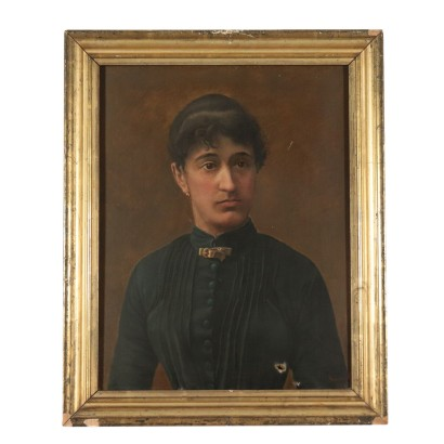 Portrait of a Woman by Enrico Benzoni Painting 1896