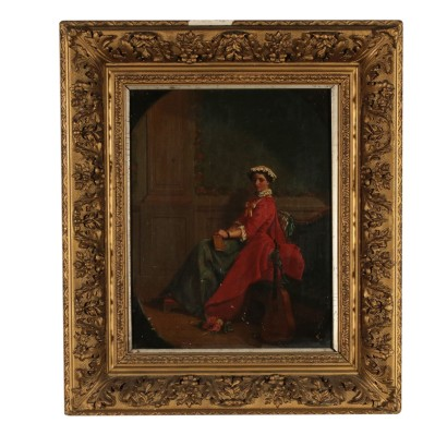 Portrait of a Dame Oil Painting 19th Century