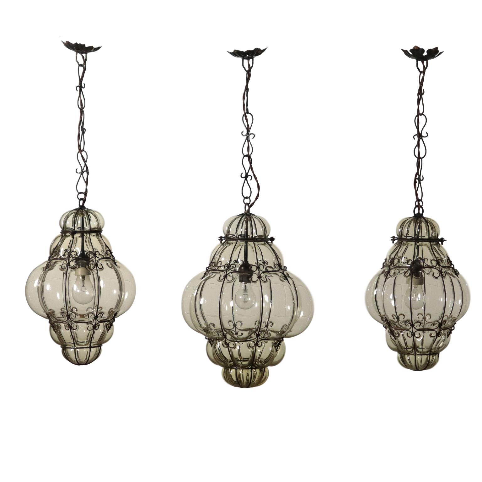 Gruppo tre Lanterne - Illuminazione - Bottega del 900 ...