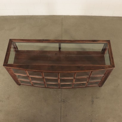Display Cabinet Softwood Glass Vintage Italy 1940s
