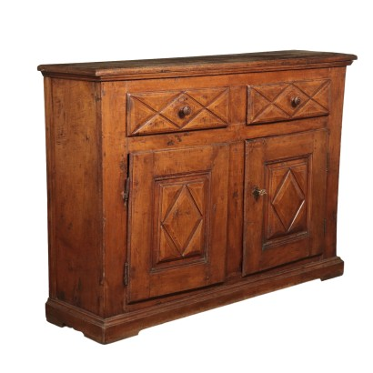 Cupboard Solid Walnut Italy Early 18th Century