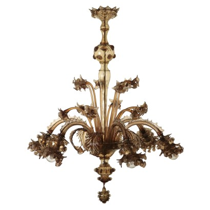 Glass Chandelier Made in Murano Italy 20th Century