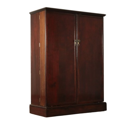 English Wardrobe Wood Veneer First Half of 1900s