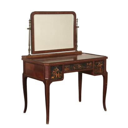 Dressing Table with Mirror Mahogany Italy Mid 20th Century
