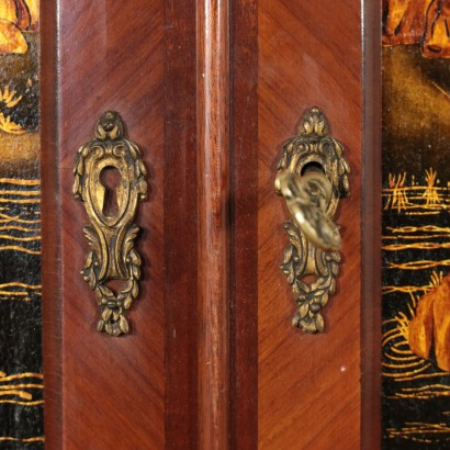 Cupboard Laquered Chinoiserie Doors Beech Marble 20th Century