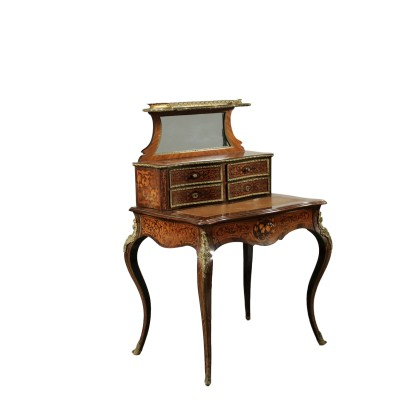 Elegant Napoleon III Writing Desk with Raised Part France 19th Century