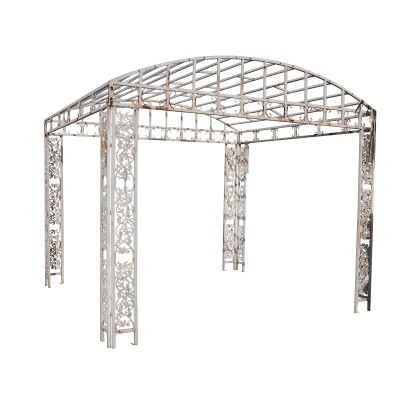 Iron Rectangular Gazebo with Arched Covering