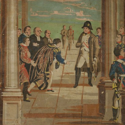 Tribute to Napoleon Oil Painting 19th Century