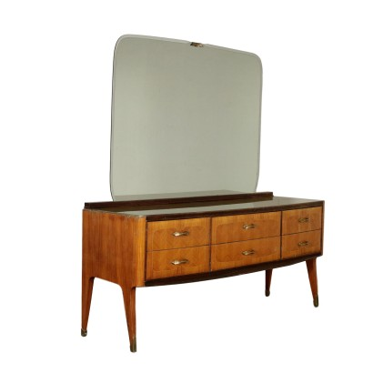 Chest of Drawers with Mirror Rosewood Veneer 1960s