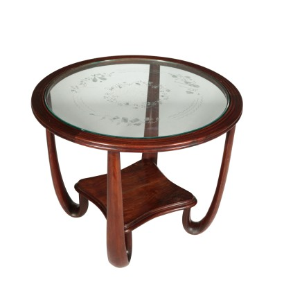 Round Coffee Table Vintage Italy 1940s-1950s