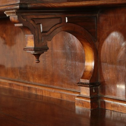 Double Body Belief Walnut Veneer Italy 19th Century