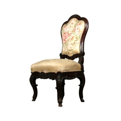 Inlayed Walnut Chair Italy 19th Century