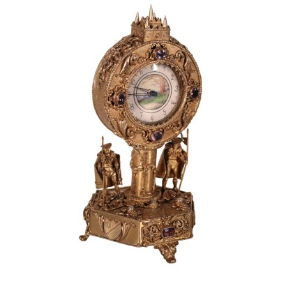 Silver Table Clock 19th-20th Century