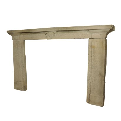 Large Fireplace Mantel in Stone Italy Early 20th Century