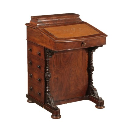 Davenport Desk Maple Walnut France 19th Century