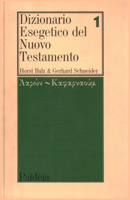 Dictionary Exegesis of the New Testament (vol. 1)