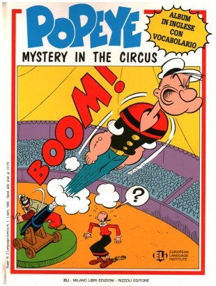 Popeye. Mistery in the circus