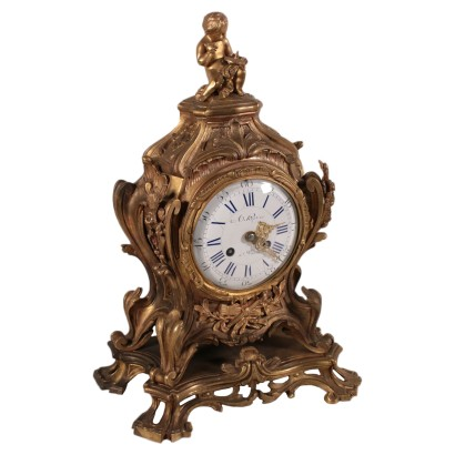 Bronze Table Clock France 19th Century