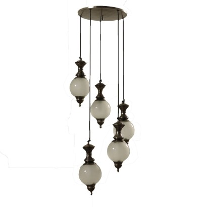 Ceiling Lamp WIth Five Pendants Italy 1960's