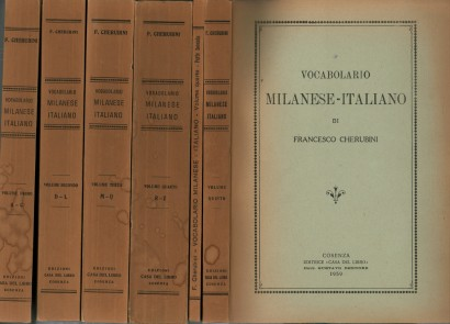 Vocabulary milanese-Italian (5 Volumes in 6 Volumes)