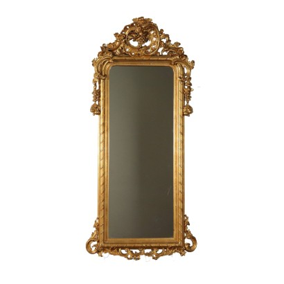Mirror With Gilded Wood Frame France 19th Century