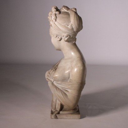 White Marble Bust Italy 19th Century