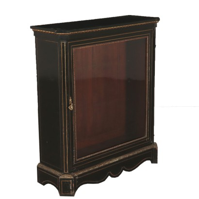 Ebony Wood Showcase France 19th Century