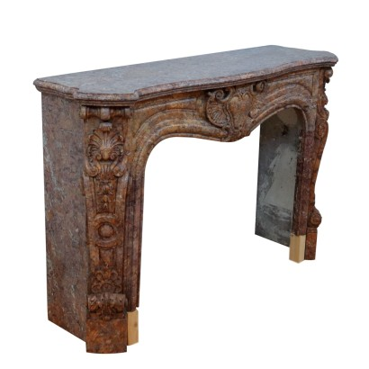 Marble Fireplace Mantel Italy 20th Century