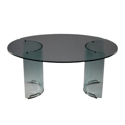 Vintage Glass Table Italy 1970's-1980's