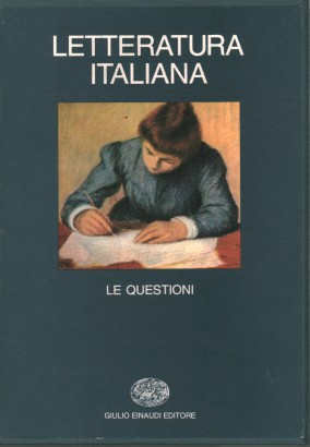 Italian literature: the issues (volume V).
