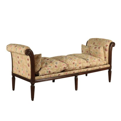 Walnut Sofa Banquette Italy Early 19th Century