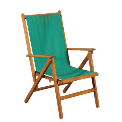 Beech Deckchair Produced by Reguitti Italy 1950's