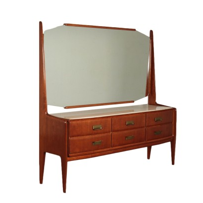 Vintage Chest of Drawers With Mirror 1950's