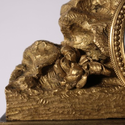 Chiselled and Gilded Bronze Table Clock