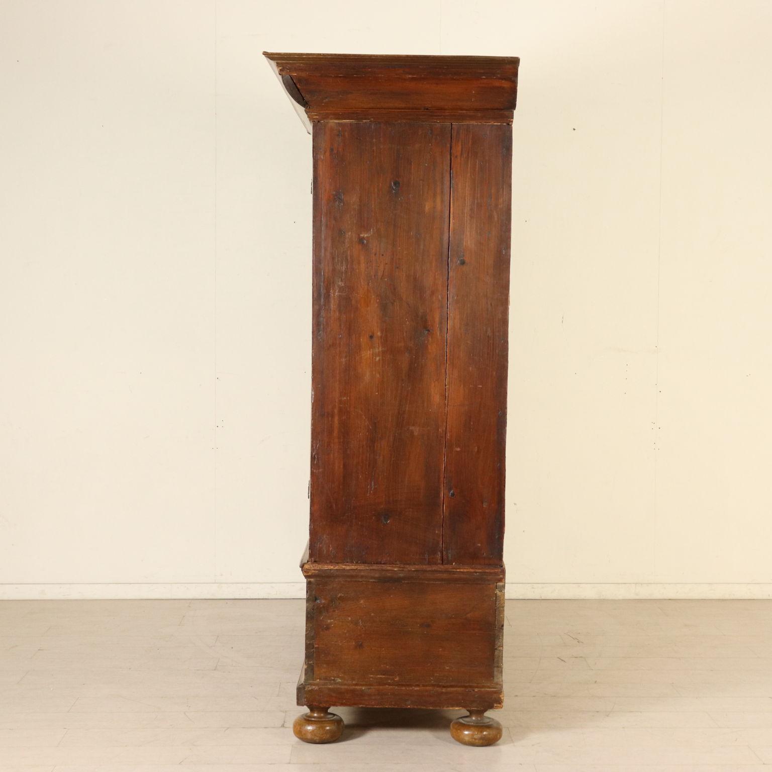 Walnut Wardrobe With Two Doors Germany 18th Century