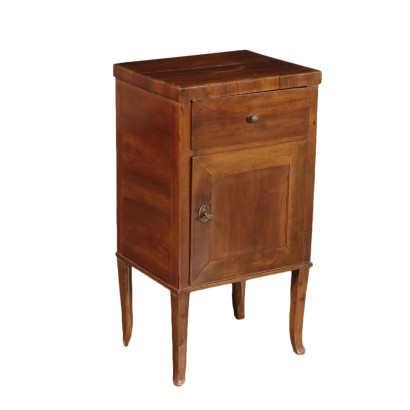 Walnut Directoire Bedside Table Italy 18th-19th Century