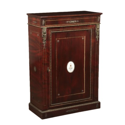Small Mahogany Veneer Cupboard England 20th Century