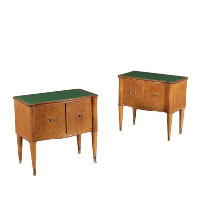 Vintage Bedside Tables Italy 1940's-1950's