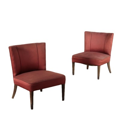 Vintage Pair of Armchairs Italy 1940's-1950's