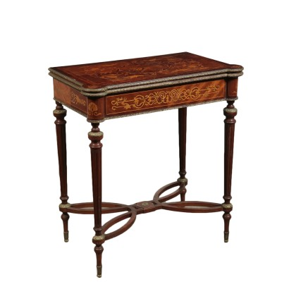 Gaming Table Maple and Mahogany Italy 20th Century