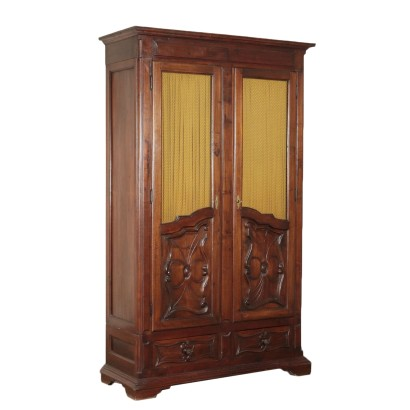 Piedmontese Walnut Bookcase Italy 19th Century